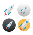 rocket icon on white vector image vector image