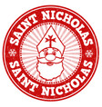 saint nicholas stamp vector image vector image