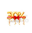 sale 30 off ballon number on white background vector image vector image