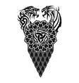 scandinavian tattoo 0008 vector image vector image