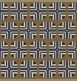 seamless pattern with geometric ornament vector image vector image