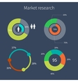 Set of colorful diagrams market research vector image vector image