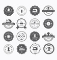 Set of vintage tailor labels vector image
