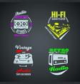 set retro colored vintage logotypes vector image vector image