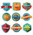 set retro vintage badges and labels flat design vector image