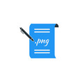 simple business of portfolio paper icon template vector image