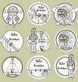 Sketch Native american symbols vector image