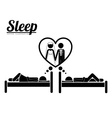 Sleep design vector image