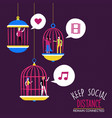 social distance people relationship concept vector image vector image