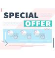 special offer web banner design vector image
