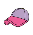 sport cap purple and pink accessory fashion vector image vector image