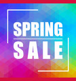 spring sale triangular background can be used for vector image