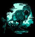 t-rex 404 page error comes alive vector image vector image