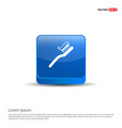 toothbrush with paste icon - 3d blue button vector image