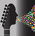Transparent BG Guitar vector image vector image