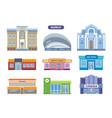 urban buildings facades architectural structures vector image vector image