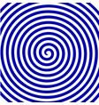 white blue round abstract vortex hypnotic spiral vector image