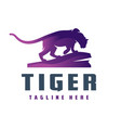 wild tiger animal logo vector image vector image