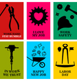Work cards vector image vector image