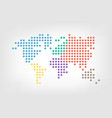 world map dotted style flat color design vector image vector image