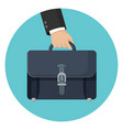 briefcase in businessman hand vector image