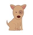 dog cartoon puppy isolated vector image