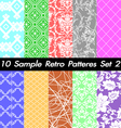 10 Retro Patterns Textures Set 2 vector image vector image