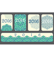 2016 Calendar cover decorated with circular flower vector image vector image