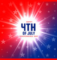 4th july glowing background design vector image vector image