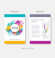 abstract annual report or brochure design vector image vector image