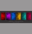 abstract colorful background with triangles shiny vector image vector image