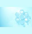 abstract geometric hexagons shape medicine