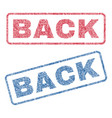 back textile stamps vector image vector image
