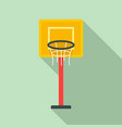 basketball tower icon flat style vector image vector image