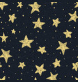 beautiful seamless night sky pattern with textured vector image vector image