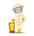 beekeeper bee uly apiary bee garden vector image