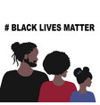 black lives matter and i cant breathe concept vector image vector image