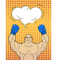 Boxer-style pop art with a bubble over his head vector image vector image
