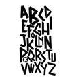 Broken font vector image vector image