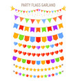bunting party flag garlands vector image vector image