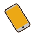 cartoon shopping online mobile phone technology vector image