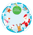 Christmas Ornaments On Circle Frame vector image vector image