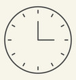 clock thin line icon time vector image