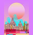 contemporary art poster design rome italy vector image vector image