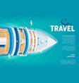 cruise liner travel banner vector image