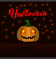 cute cartoon pumpkin for a halloween vector image