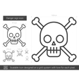 Danger sign line icon vector image vector image