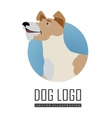 Dog Logo in Flat Style Design vector image vector image