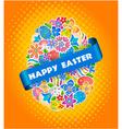 Easter Symbol Egg and Spring flower3 vector image vector image