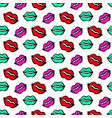 fashionable colorful lips and kisses vector image vector image